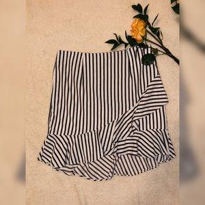 Ruffled Bottom Pencil Skirt